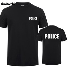 Best POLICE SWAT SECURITY Printing T-Shirt For Man Woman CSI Fancy Dress Novelty Cops Workwear Cotton O Neck T Shirt Tee(China)