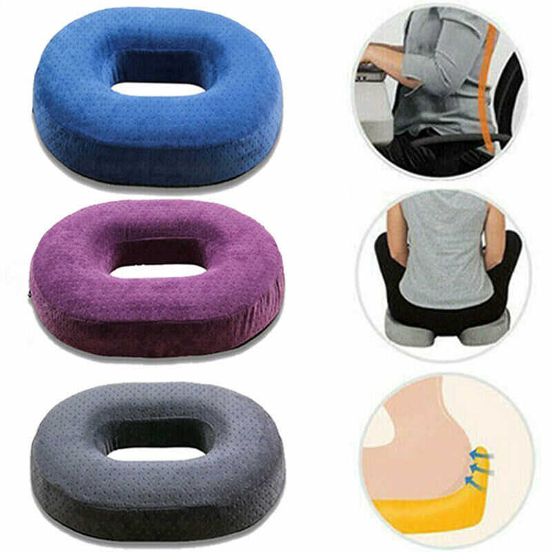 Comfortable Memory Sponge Travel Donut Ring Cushion Home Office Chair Seat Pads