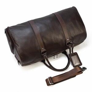 Image 4 - MAHEU สูงแฟชั่นกระเป๋าผู้หญิง 2019 ชายหญิง duffle กระเป๋าพกพากระเป๋าหนังแท้สำหรับเครื่องบิน