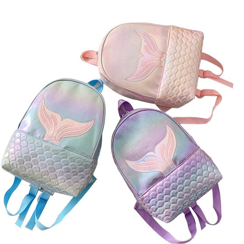 New Mermaid Pattern Bling Backpacks Fashion PU Leather Shiny Bag Women Large Capacity Traveling Handbag Female Rucksack Hot 2020