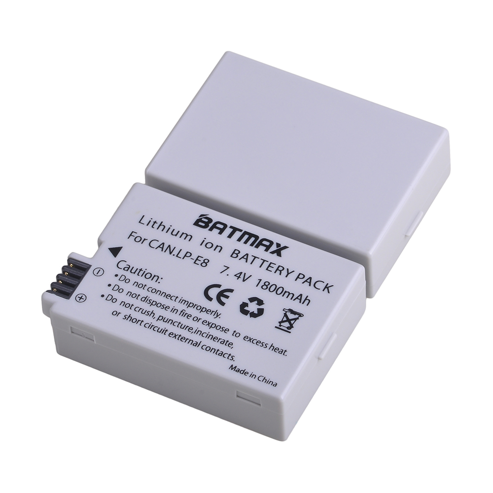 Batmax LP-E8 LPE8 LP E8 <font><b>Battery</b></font> for <font><b>Canon</b></font> <font><b>550D</b></font> 600D 650D 700D X4 X5 X6i X7i T2i T3i T4i T5i DSLR Camera image