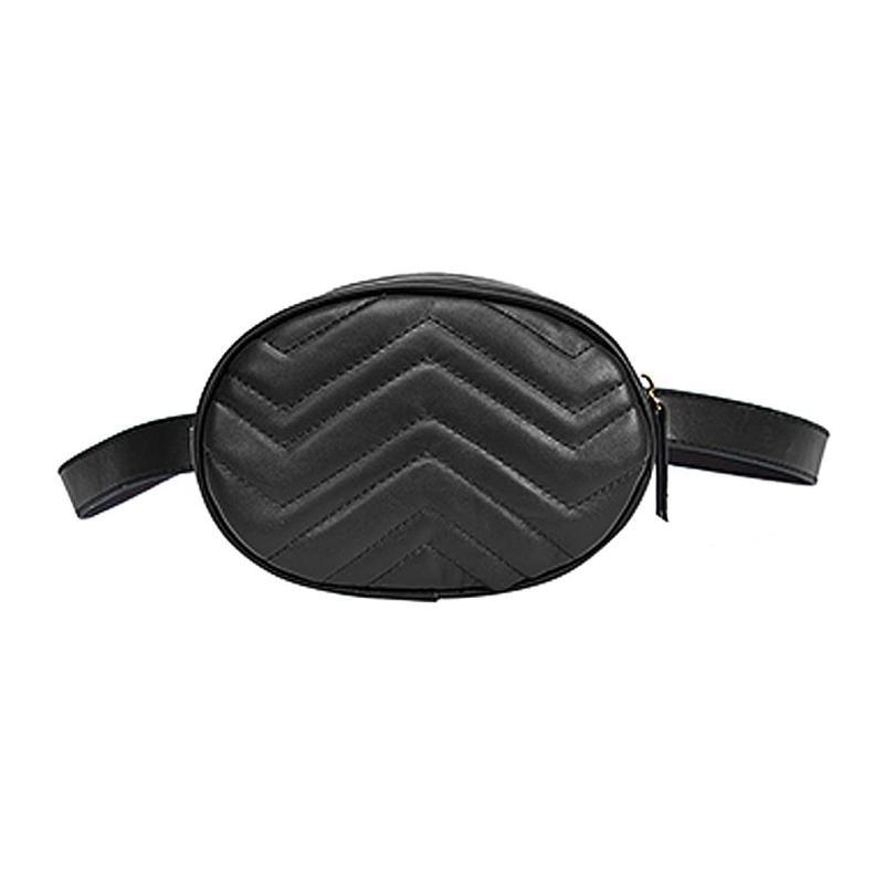 Women PU Leather Waist Packs Fanny Handbag Oval Shoulder Zipper Bag Purse  New Fashion Oval Shape Waist Packs Brand Women Bags