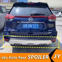 For Nissan X TRAIL Body kit spoiler 2017 2019 For X TRAIL ABS Rear lip rear spoiler front Bumper Diffuser Bumpers Protector