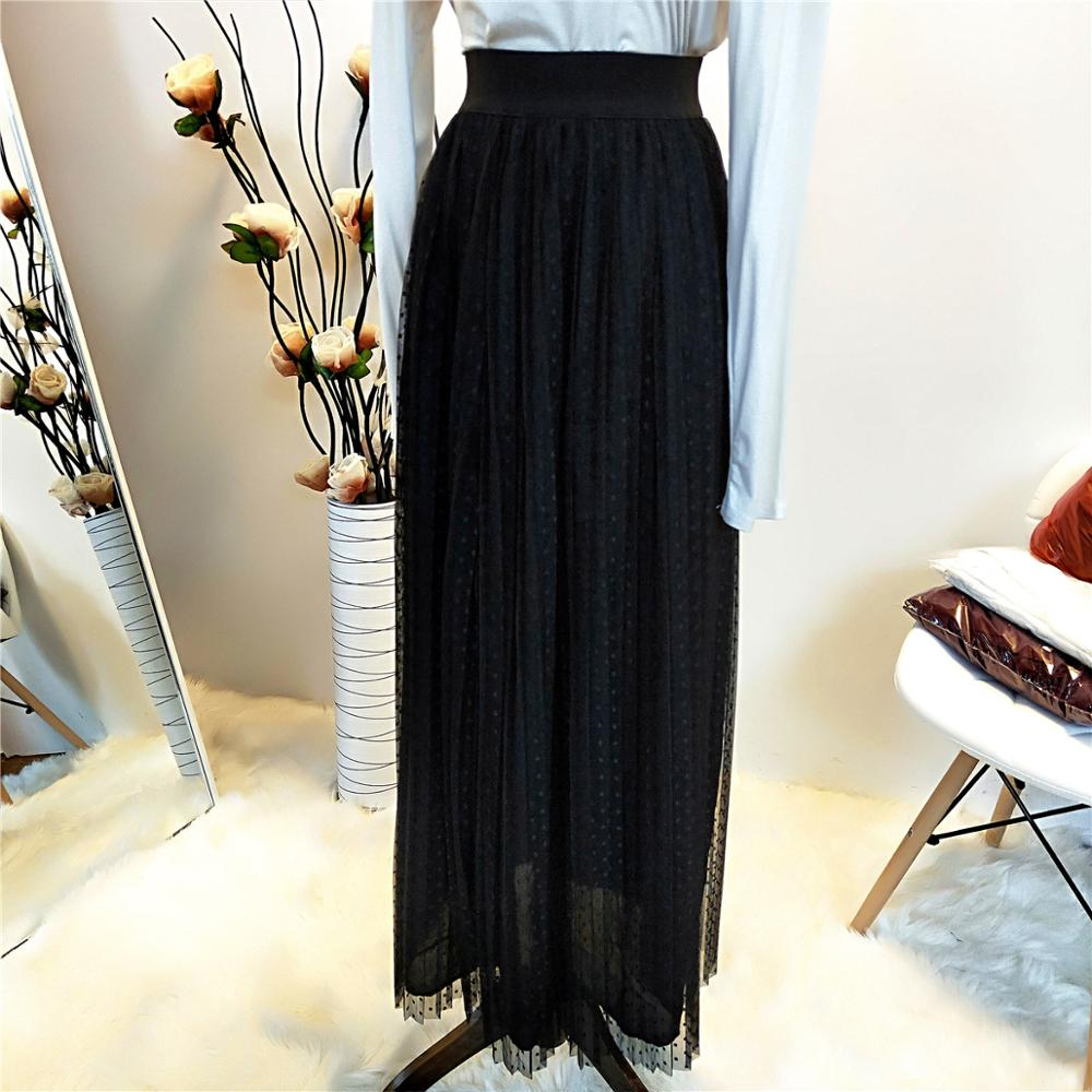 Fake Two Pieces Fashion Muslim Skirts Long Skirt Princess Elegant Modest Muslim Bottoms Party Islamic Clothing With Lining F1596