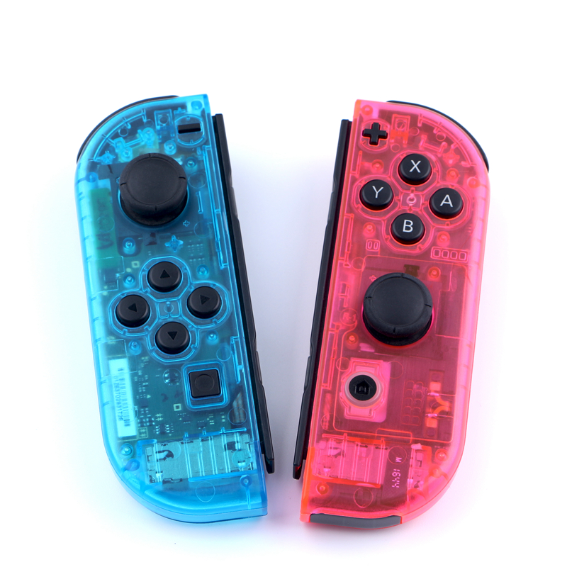 Housing Shell Transparent Red Blue Replace Cases Customized Cover for NS Nintend Switch Controller Joy-Con