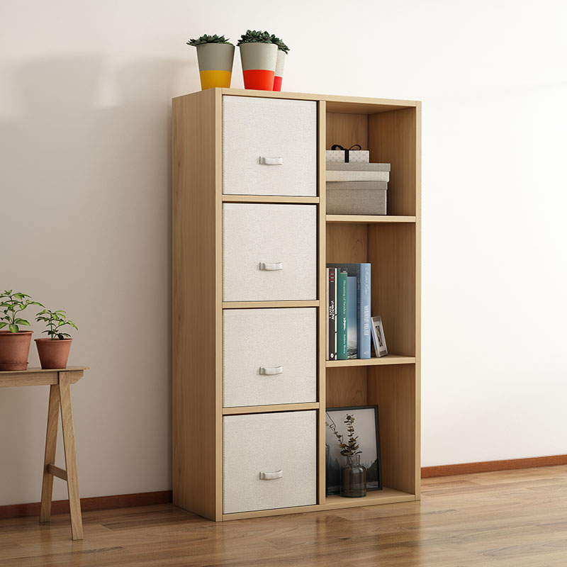 Modern Bookshelf Toy Storage Cabinet Storage Cabinet Wooden Cabinet Domestic Bookshelf Storage Rack With Drawer Cabinet