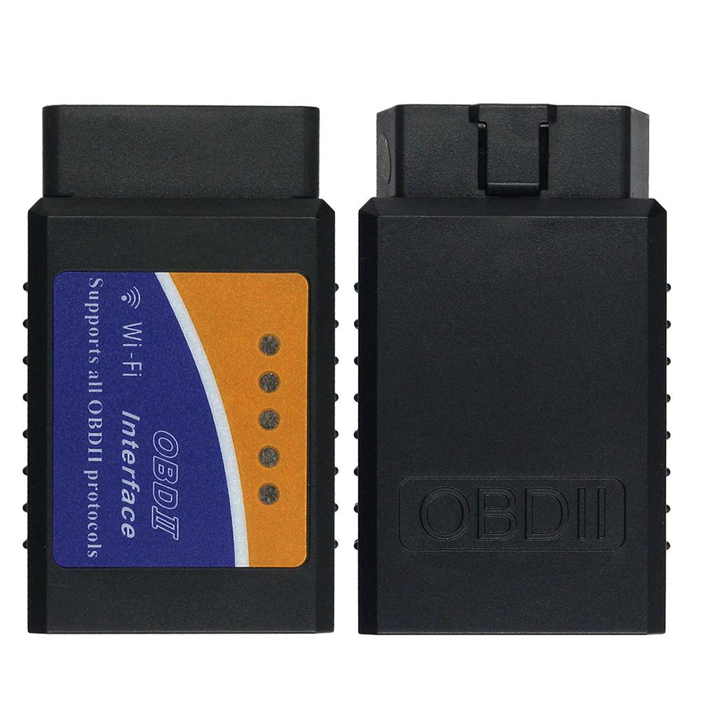 WI-FI/Bluetooth ELM327 V1.5/V2.1 OBD2 сканер ELM 327 Автомобильный диагностический инструмент OBDII для Android/IOS/Windows