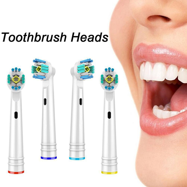 4pcs Replacement Brush Heads For Oral-B Toothbrush Heads Advance Power/Pro Health Electric Toothbrush Heads 2