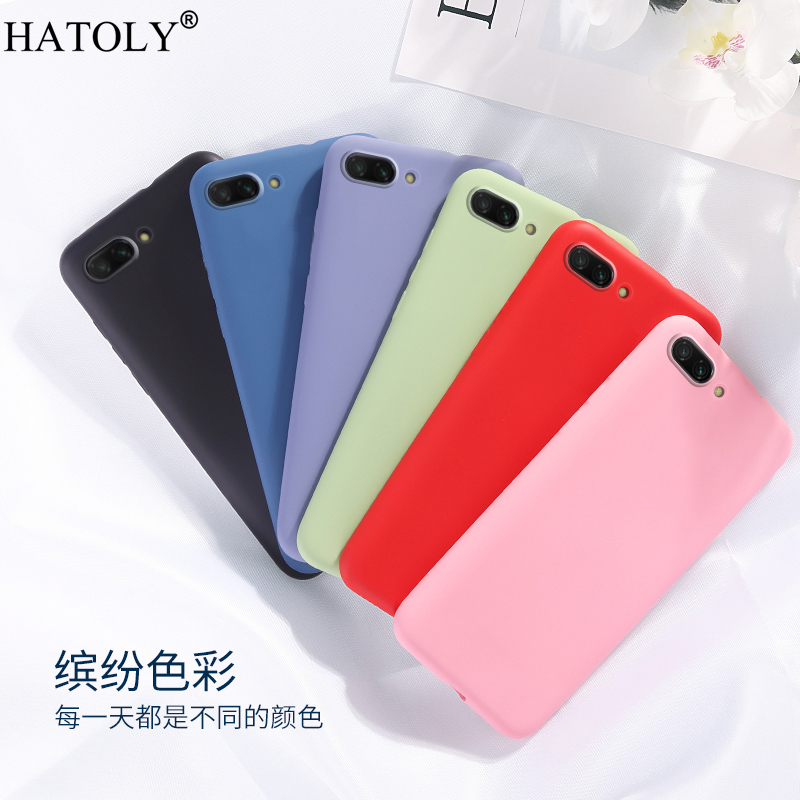 For Huawei Honor 10i Case Cover for Phone Rubber Shell Protective Liquid Silicon