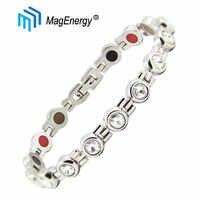 MagEnergy crystal bracelet women magnetic bracelets for arthritis stainless steel healing health bracelet adjustable bracelet