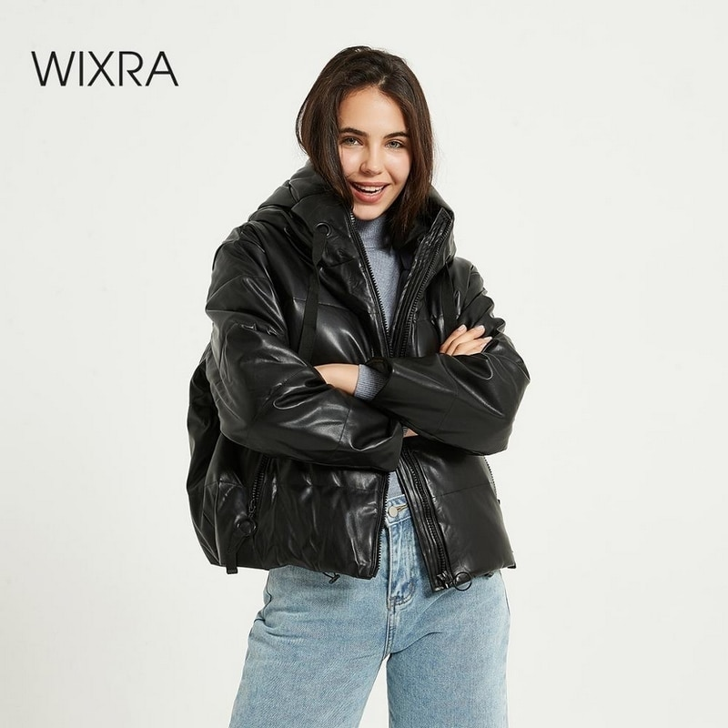 Wixra Womens Jacket New Fashion Loose Hooded Parka Jacket Solid Warm Black Coat Ladies Streetwear Waterproof Parkas Autumn|Parkas| - AliExpress