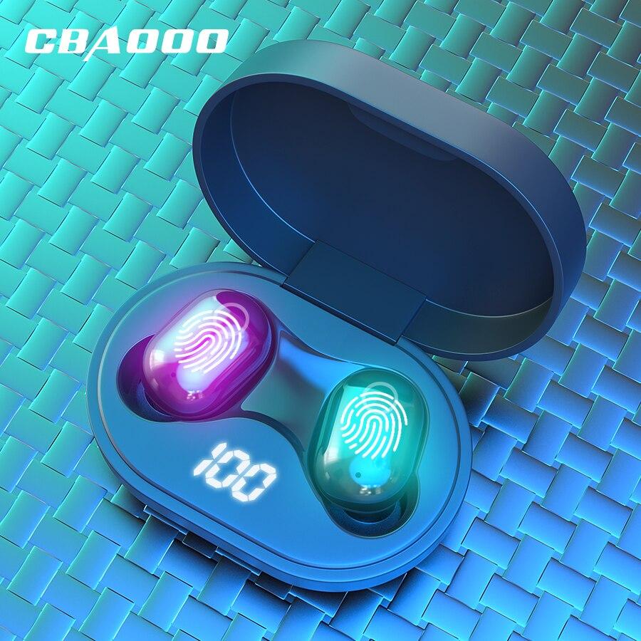 CBAOOO J15 TWS Mini V5.0 Bluetooth Earphones Touch Wireless Headset 6D Stereo Sound Earbud Dual Microphone Headphone Waterproof