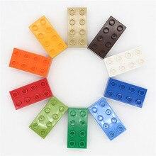 MARUMINE büyük tuğla 2x4 Duplo blok 30 adet/grup klasik Set eğitim teknik oyuncak hediye çocuk DIY yapı tuğla seti