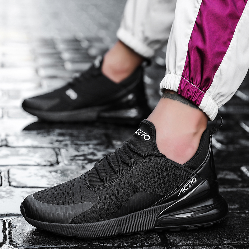 Running Shoes Sneakers For Men Women Air Sole Breathable Zapatillas Hombre 270 Mesh Lace-up Outdoor Training Fitness Sport Shoes