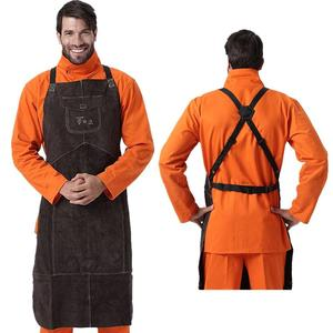a5f2c866b9bc0 Apron Premium Leather Welder Protect Clothing Carpenter Blacksmith Garden  Cowhide Clothing 91X58CM Charcoal Brown Color