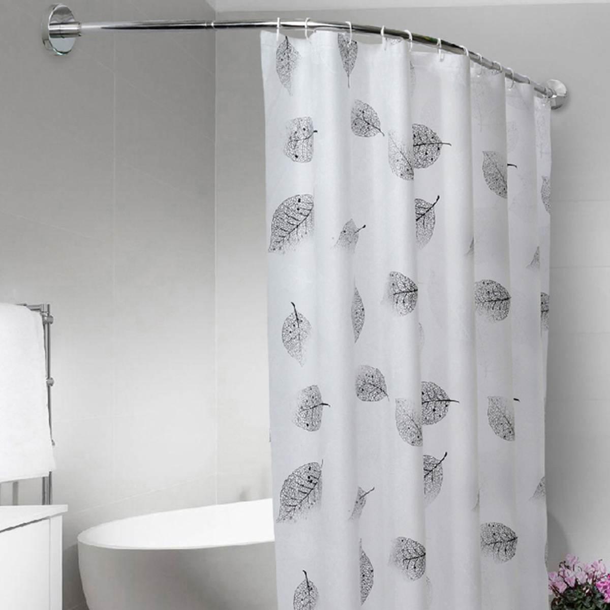 accessories bathroom curtain rod curved