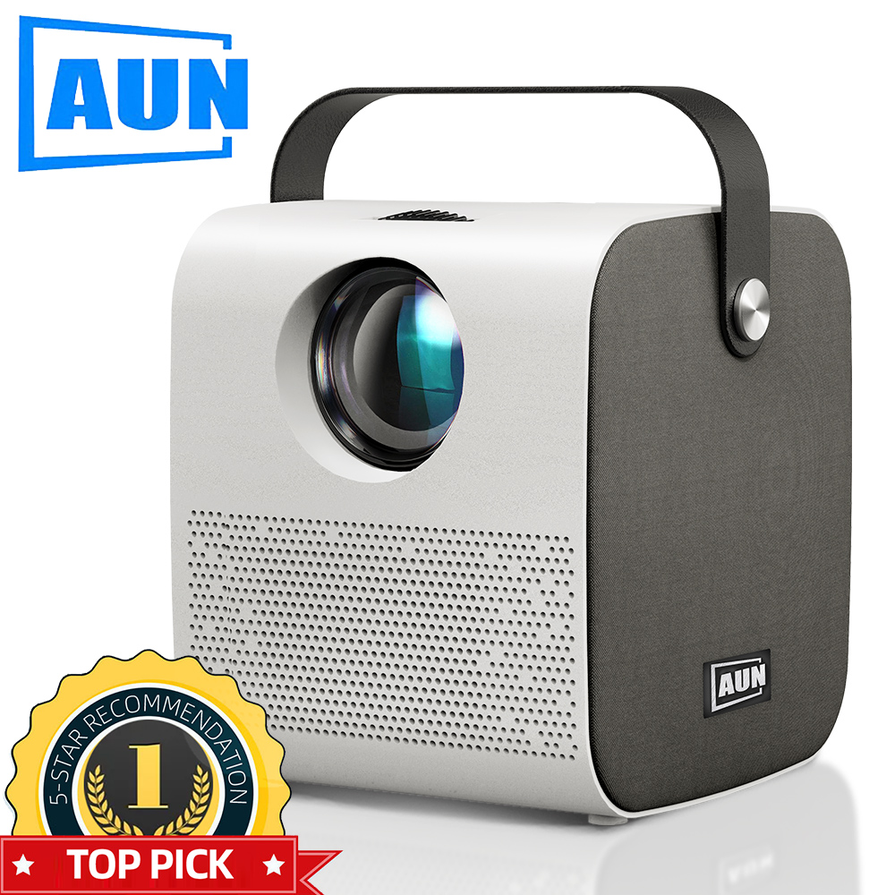 AUN MINI AKEY7 Young Projector, Native 1280*720P 2800 lumens, LED Proyector for Full HD 1080P, 3D Video Beamer Home Cinema.(China)