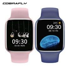 Cobrabie hw22plus relógio inteligente 1.75 polegada 128m grande memória chamada bluetooth de carregamento sem fio relógio inteligente fitness pk hw22 w26
