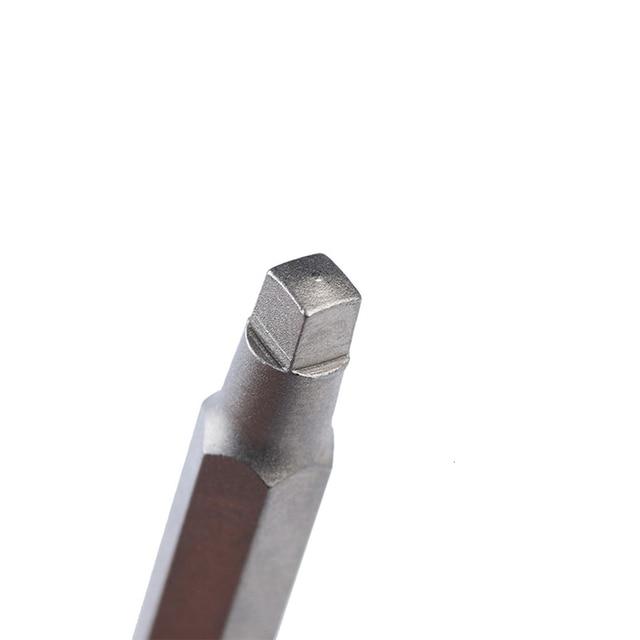 3 pièces 50mm électrique pilote Bits outils à main tournevis foret S2 1/4 pouces tige hexagonale magnétique tête carrée tournevis Bits ensemble