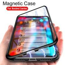 Металлический магнитный адсорбционный стеклянный чехол для Xiaomi Redmi Note 8, 7, 6, 5 Pro, Магнитный чехол для Redmi 7, 7A, K20 Pro, чехол, чехол