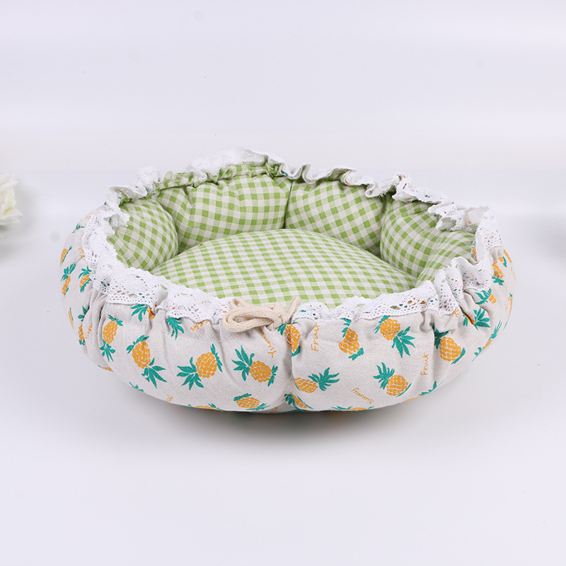 Pet Dog Nest flower Bud Nest Pumpkin Nest Small Dog Kennel Cat Nest Pet Mat Sleep Nest For Cat Teddy Chihuahua Bed 7