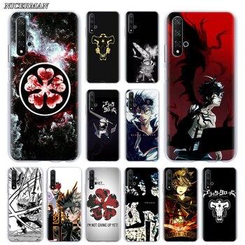 Funda de teléfono negra trébol Anime Asta para Huawei Honor 10 10i 20 Lite 30 Pro 20S 20e 8X 9X Lite 8A 9A 9S 9C