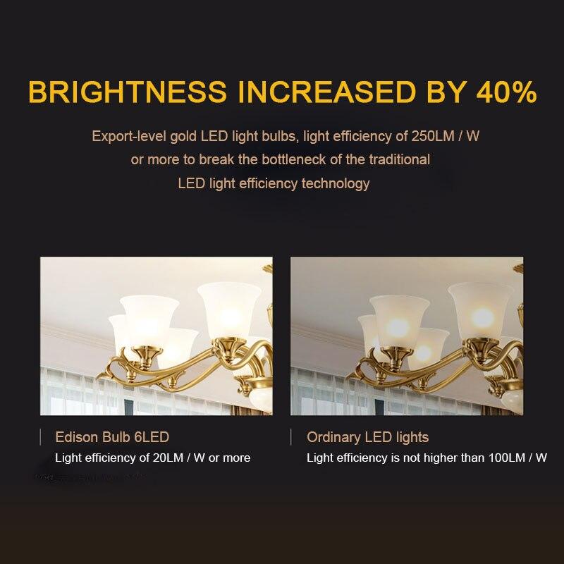Bombilla LED E27 Retro, 220V, 240V, luz con filamento LED, G80, G95, G125, bola de cristal, bombilla LED Edison, luz de vela, 4W, 6W, 8W