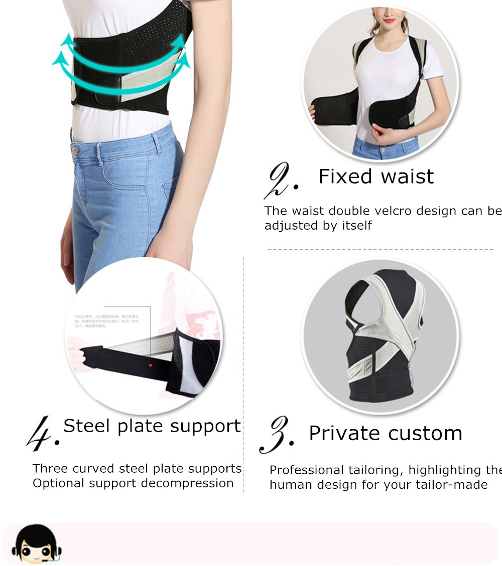 Tlinna Posture Corrector Belt with Adjustable Dual Strap Design to Get Perfect and Confident Body Posture Suitable to Wear Under or Over Clothing 26