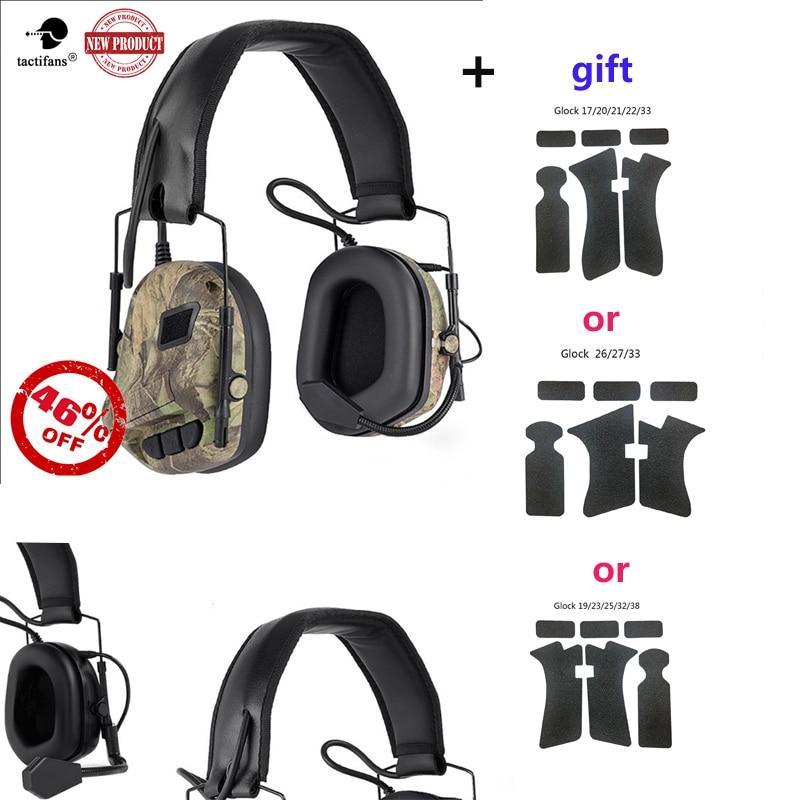 fone de ouvido tatico militar reducao de ruido eletronico cabeca montado 52 64 64cm telefone com