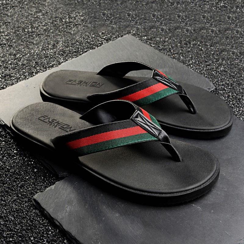 WEH flip flops men designer beach summer slides for men luxury brand Shoes black soft Fashion men slippers big size 47 48