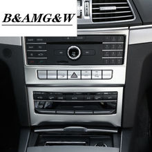 Car Central Air Conditioning CD Frame Decoration Sticker Trim For Mercedes Benz E Class Coupe W207 C207 2014-16 Accessories