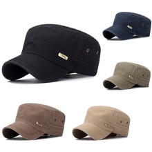 Outdoor Casual Sun Prevent Fitted Cap Plain Curved Fashion Unisex Military Style Flat Vintage Baseball Sport Hat