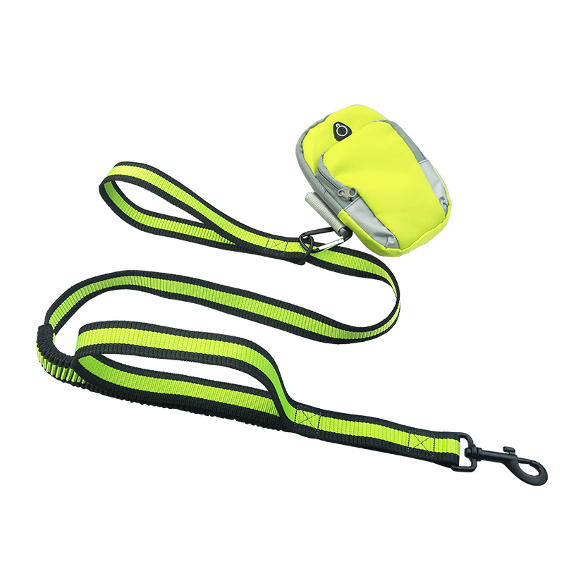 Dog Running Pet Sports Set Hand Holding Rope Running Traction Belt Training Belt Sport Arm Bag Traction