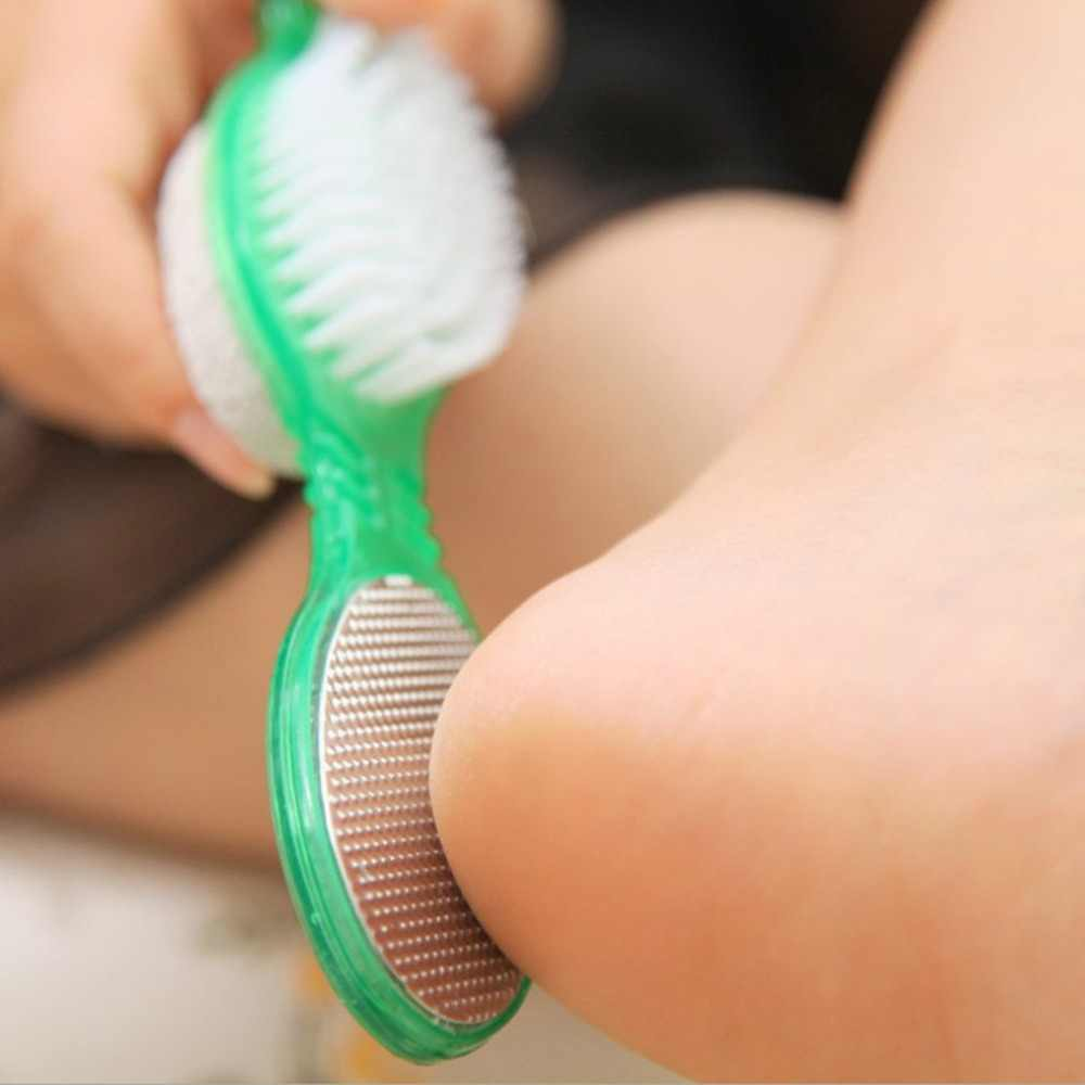 Cura del piede Callo Brush Scrubber Pedicure Esfoliare Remover Pomice Piedi di Macinazione di Pietra 4 in 1 A Due Lati Del Piede Massaggiatore 45 minuti 12h