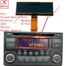 1 قطعة راديو السيارة شاشة الكريستال السائل الشاشة لنيسان قاشقاي X Trail الحدود ملاحظة جوك دواليس نافارا سوزوكي خط الاستواء بكسل إصلاح