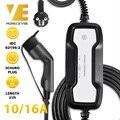 Портативный кабель для зарядки EV типа 2  переключаемый 10/16A Schuko штекер  автомобильное зарядное устройство для электромобиля EVSE IEC 62196-2 6 5 m 220V