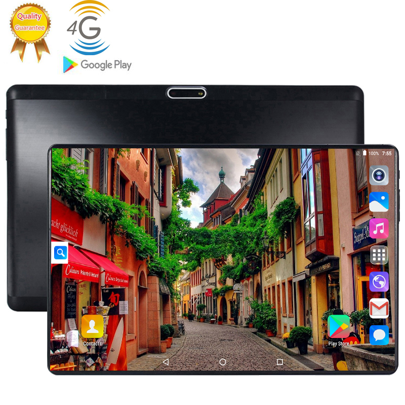2020 Tempered 2.5D Glass 4G FDD LTE Phon 10 Inch Tablet Pc Octa Core 6GB RAM 128GB ROM 1280*800 IPS Screen WIFI Android 9.0 GPS