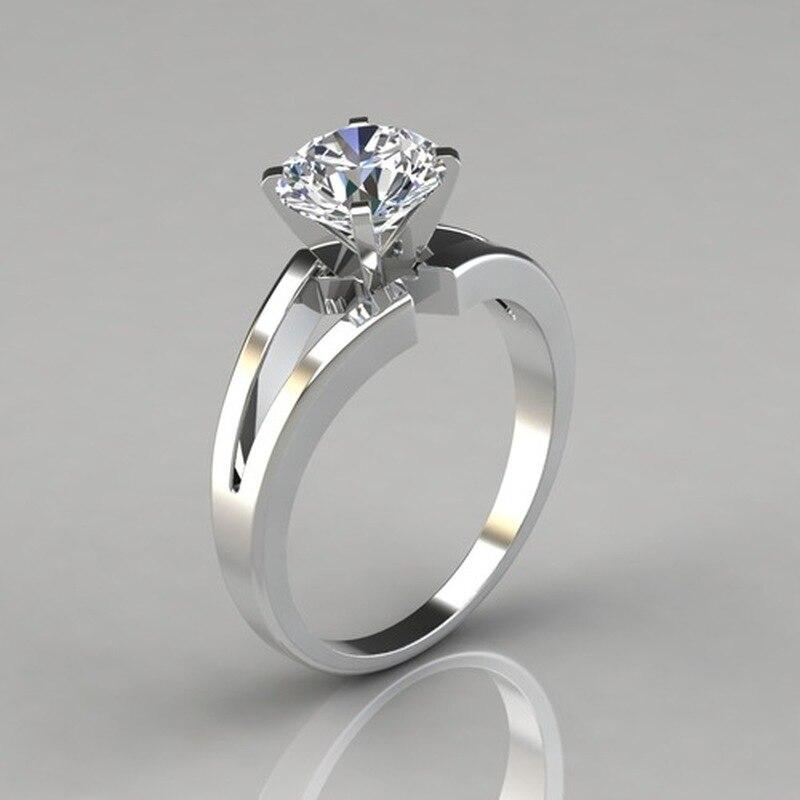 Лидер продаж; Новинка простой сплав инкрустированное Цирконом кольцо популярные свадебное кольцо с бриллиантом