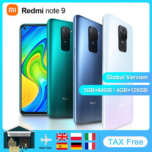 "Global Version Xiaomi Redmi Note 9 4GB 128GB Smartphone android Mobile Phones Helio G85 Octa Core 6.53 ""Display 5020mAh 1"