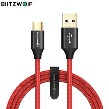 BlitzWolf USB Type C Type-C Data Cable 1.8m/6ft Unbreakable Mobile Phone USB Charger Cables For  Smartphone
