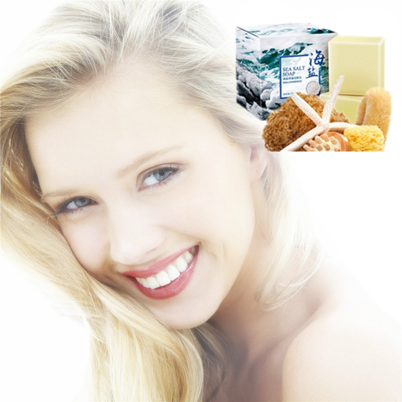 Anti-acne Oil Sea Salt Cleaning Soap Solid Cleaning Milk Whole Body Bathing Clean And Moisturizing Skin, Anti-Black Spot