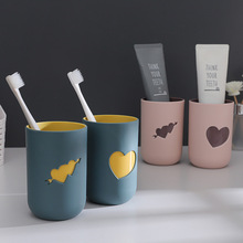 Toothbrush Cup Bathroom-Accessorie Plastic Drinking-Cup Anti-Scald Two-Color Creative