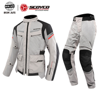 SCOYCO Motorcycle Jackets&Pants Summer Breathable Falling Protection Motocross Racing Suits Motorbiker Protective Combinations