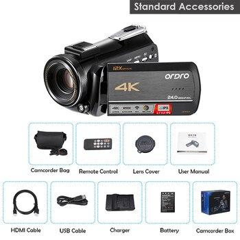 ORDRO Camcorder 4K Video Camera Professional ORDRO AC5 12X Optical Zoom fimadora Wifi Vlogging Camera фото