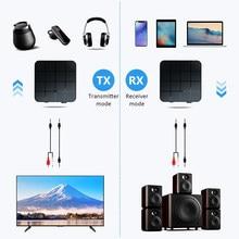 Récepteur Audio transmetteur pour voiture TV PC haut-parleur KN321 USB stéréo musique sans fil adaptateur 3.5mm AUX Bluetooth 5.0