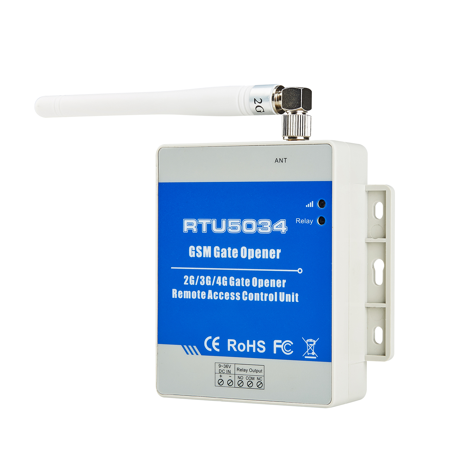 Relay Switch Remote Access GSM Gate Opener Controller Automatic sliding door motor control by free phoen call RTU5034