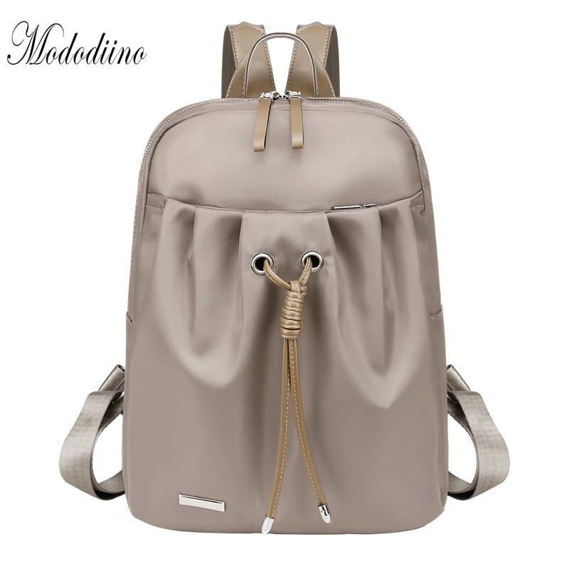 Mododiino Backpack Women Shool Bag Waterproof Travel For School Teenagers Girls Anti Theft DNV1172
