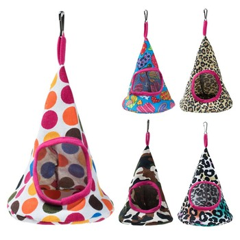 New 5 Colors Pet Cone Basket Birdhouse Hammock Plush Bird Toys Parrot Hammock Warm Hammock Pet Cave Cage Tent Toy House