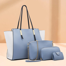 famous brand women composite bag top handle bags fashion lady shoulder bag handbag set pu leather bag women s handbags 4pcs set Famous Brand Women Composite Bag Top-Handle Bags Fashion Lady Shoulder Bag Handbag Set PU Leather Bag Women's Handbags 4pcs/set