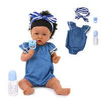 Silicone Pieno Bambole Del Bambino Rinato Bocca Del Bambino Realistico Vivo Boneca Bebe Realistico Ragazza Vera Bambola Reborn Regalo di Compleanno